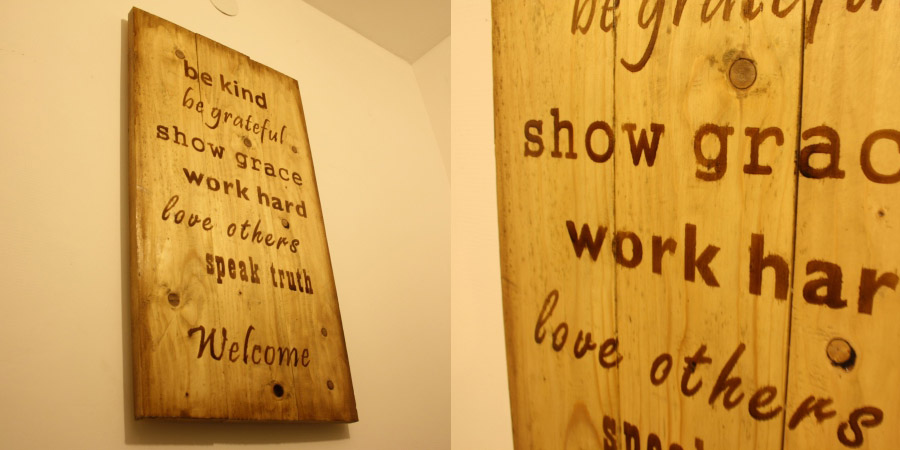 Wooden Welcome wall decor..